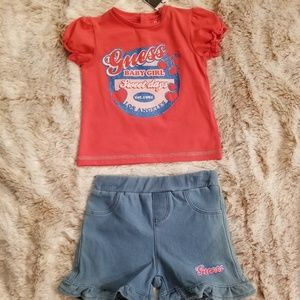 Guess Matching Sets Baby Girls Baby Floral Shorts Set  Baby Girls Baby Floral Shorts Set